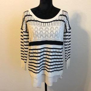 Charming Charlie's black and white sweater S.
